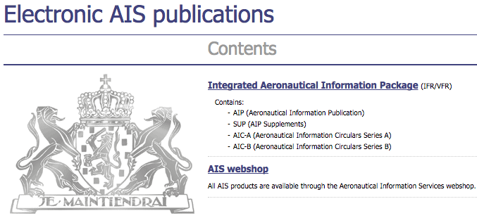aeronautical information publication
